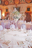 Table set for a special occasion. A photo of beautiful and in a luxury way set table ready for a very special occasion Royalty Free Stock Photos