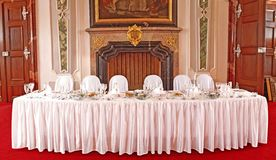 Table set for a special occasion Stock Photography