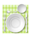 Table set. With tablecloth Scottish Stock Image