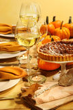 Table set for Thanksgiving Stock Photos