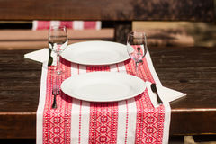 Table set for two Stock Photography