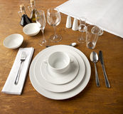 Table set up Stock Images
