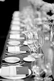 Table set up Royalty Free Stock Photography