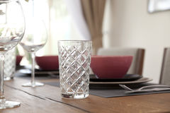 Table set up for dinning room Stock Photography