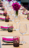 Table set up Stock Image