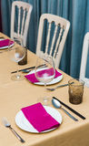 Table set up Royalty Free Stock Photos