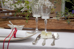 Table set up Royalty Free Stock Image