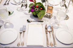 Table set up for meal Royalty Free Stock Photos