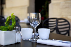 Table set up in a restaurant Stock Photography