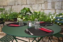 Table set up Royalty Free Stock Photo