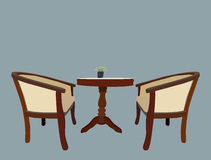 Table Set Royalty Free Stock Photo