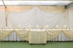 Table set for wedding Stock Image