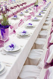 Table set for wedding Royalty Free Stock Photos