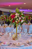 Table set for wedding or another catered event dinner. Royalty Free Stock Photo
