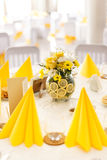 Table set for wedding. Or another catered event dinner Royalty Free Stock Images