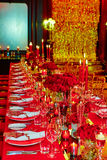 Table set for wedding or another catered event Royalty Free Stock Photos