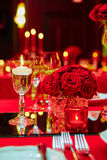 Table set for wedding or another catered event Stock Images