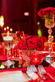 Table set for wedding or another catered event Royalty Free Stock Images