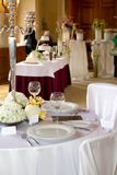 Table set for a wedding dinner Royalty Free Stock Photos