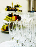 Table set for a wedding dinner Stock Photography