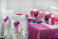 Table set for wedding or event party. Stock Image