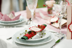 Table set for wedding or event party. Royalty Free Stock Image
