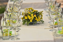 Table set for a wedding lucnh Stock Image
