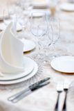 Table set for wedding party Royalty Free Stock Photography