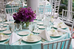 Table set for a wedding reception Stock Image