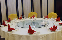 Table setting. In the chinese restaurant Stock Photography