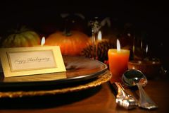 Table setting. Ready for Thanksgiving stock photography
