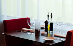 Table setting. In a restaurant Stock Photography