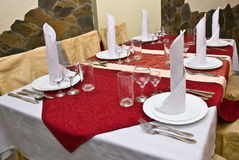 Table setting. For an event Royalty Free Stock Image