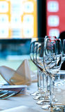 Table setting. At a restaurant Royalty Free Stock Image