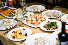 Table setting. Of Russia restaurant royalty free stock image
