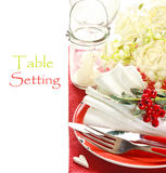 Table setting. Royalty Free Stock Photo
