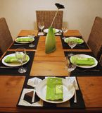 Table setting. All set for dinner stock image