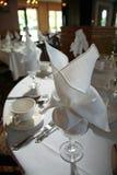 Table Setting. At wedding reception Royalty Free Stock Photo