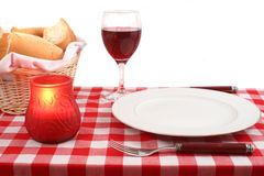 Table setting. Meditteranean table setting Royalty Free Stock Image
