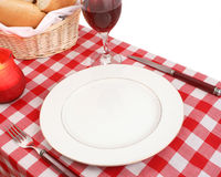 Table setting. Meditteranean table setting Royalty Free Stock Photos