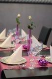 Table setting Royalty Free Stock Photos