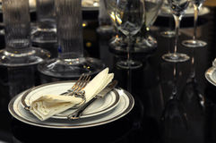 The table setting Stock Image