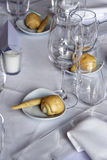 Table setting. Close up of a party table setting Stock Photos