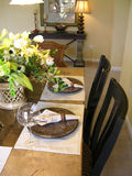 Table Setting. Nicely set table at home Royalty Free Stock Photos