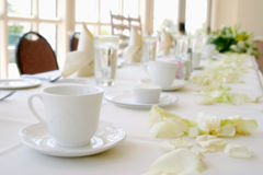 Table setting. At a wedding reception Stock Photo