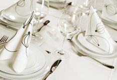 Table setting Royalty Free Stock Images