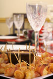 Table setting with appetizers Royalty Free Stock Images