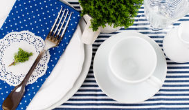 Table setting for breakfast Royalty Free Stock Images