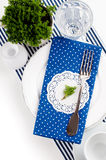 Table setting for breakfast Stock Images