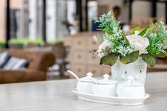 Table Setting in Cafe Royalty Free Stock Images